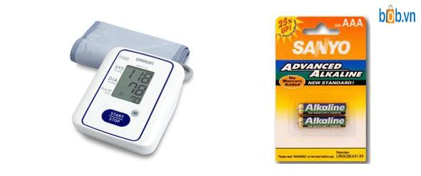 pin alkaline dung cho may do huyet ap